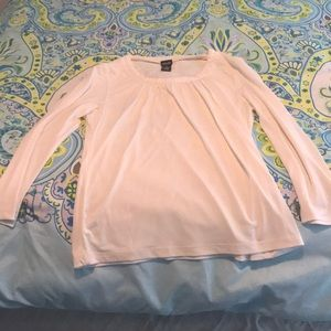 Rafaella polyester long sleeved white shirt